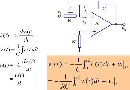 运算放大器应用(二)-积分电路和微分电路